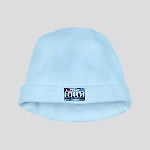 Texas License Plate [DALLAS] baby hat